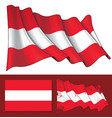 waving flag of austria vector image vector image