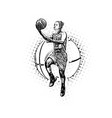 womens basketball vector image vector image