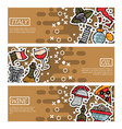 set of horizontal banners about italy vector image