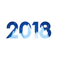 2018 happy new year paper cut colorful 3d vector image