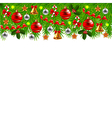 Decorated Christmas tree branches isolated vector image