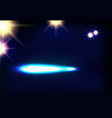 disco background with spotlights and light vector image