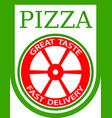 traditional italian pizza emblem vector image