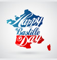 14th july bastille day background vector image