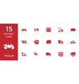 15 trailer icons vector image vector image