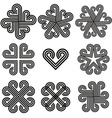Abstract black and white curly icons vector image vector image