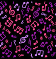 Abstract music seamless pattern music notes