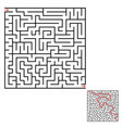 abstract square maze an interesting game for vector image vector image
