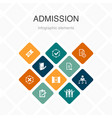 admission infographic 10 option color design