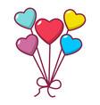 balloon icon cartoon style vector image