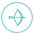 Bow and arrow line icon vector image vector image