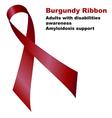 Burgundy Ribbon vector image vector image