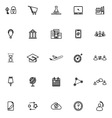 Business connection line icons on white background vector image vector image