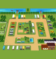 campground map vector image vector image