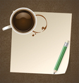 Coffee with Paper Note vector image vector image