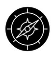 compass icon black sign on vector image vector image