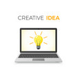 creative idea concept business solution lamp on vector image vector image