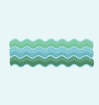 cute marine waves sea vector image