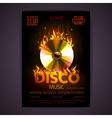 Disco poster fire Hard rock background vector image vector image