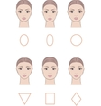 Female face set vector image