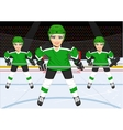 female ice hockey team vector image vector image