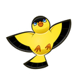 flying yellow bird vector image vector image