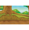 Forest scene at ground level vector image
