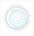 gray circles with blue arrows vector image vector image