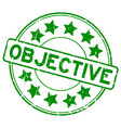 grunge green objective with star icon round vector image vector image