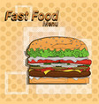 hamburger street festival fast food menu seamless vector image