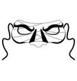 isolated halloween mummy mask vector image