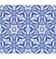 kaleidoscope blue star flower pattern vector image vector image