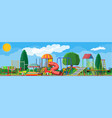 kids playground kindergarten panorama vector image