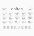 line infographic coffee set recipes vector image