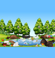 litter in the nature landscape vector image