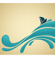 lovely sea vector image vector image
