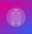 luggage bag icon in linear style vector image vector image