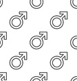 male symbol seamless pattern vector image
