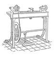 mechanic lathe vintage vector image vector image