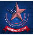 memorial day star vector image