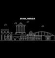 merida silhouette skyline spain - merida vector image vector image