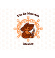 mexican girl in a sombrero holds candles vector image