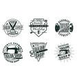monochrome vintage tailor shop logos set vector image vector image