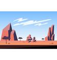 mountains at desert landscape background vector image