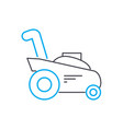 mowing grass linear icon concept mowing grass vector image