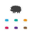 of animal symbol on hedgehog vector image vector image
