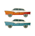 old vintage toys two cars vector image