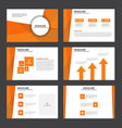 Orange presentation templates Infographic elements vector image vector image