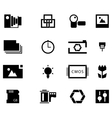 Photography icon set vector image vector image