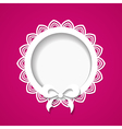 pink card with a frame vector image vector image
